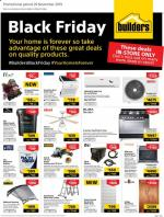Builders Warehouse Specials Black Friday 29 November 2019