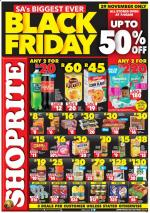 Shoprite Specials Black Friday Kwazulu Natal 29 November 2019