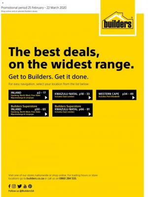 builders warehouse specials best deals on the widest range 25 february 2020