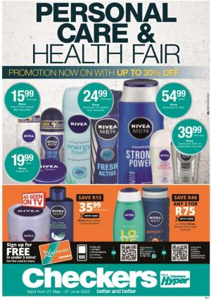 checkers specials personal care catalogue 21 may 2020