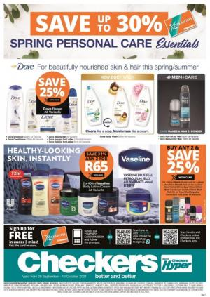 checkers specials personal care promotion 20 sep 10 oct 2021