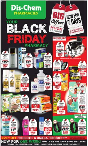 dischem specials black friday 23 november 2020