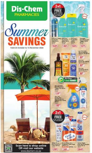 dischem specials summer savings 23 october 2020