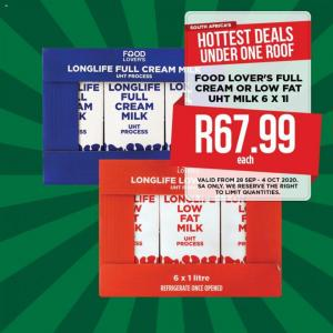 food lovers specials 29 september 2020
