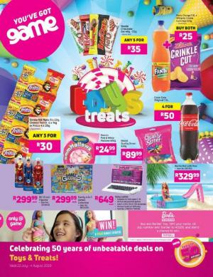game specials toys and treats 22 july 2020