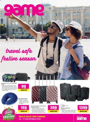 game specials travel luggage catalogue 09 december 2019