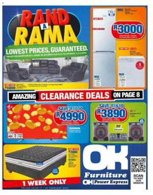 ok furniture specials 17 february 2020
