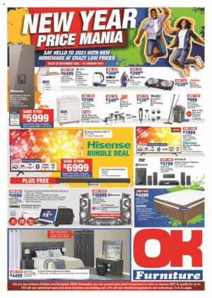 ok furniture specials 28 december 2020