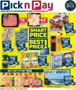 pick n pay specials 12 october 2020