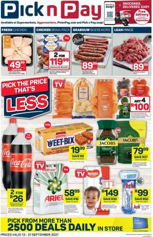 pick n pay specials 13 19 september 2021