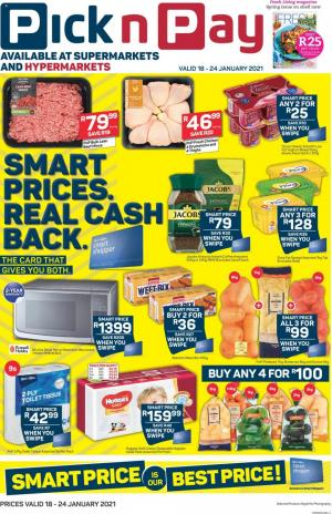 pick n pay specials 18 january 2021