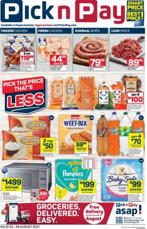 pick n pay specials 23 aug 5 sep 2021