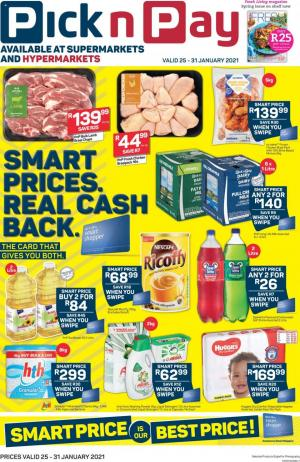 pick n pay specials 25 january 2021