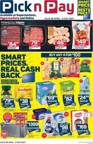 pick n pay specials 26 apr 2 may 2021