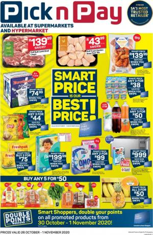 pick n pay specials 26 october 2020