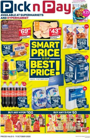 pick n pay specials 5 october 2020