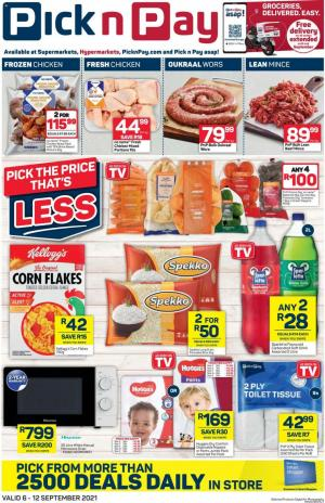 pick n pay specials 6 12 september 2021