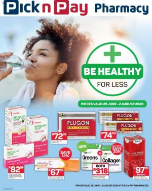 pick n pay specials be healthy for less 29 june 2020