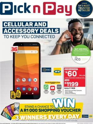 pick n pay specials cellular 6 sep 31 oct 2021