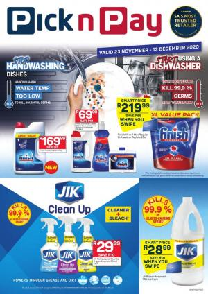 pick n pay specials cleaning essentials 23 november 2020