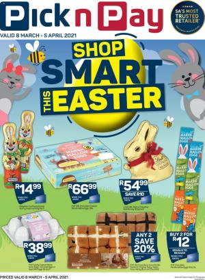 pick n pay specials easter sweets treats 8 march 2021