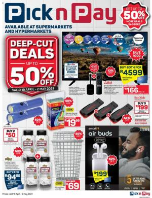 pick n pay specials general merchandise 19 apr 2 may 2021