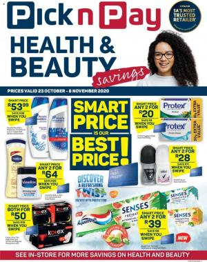 pick n pay specials health beauty savings 23 october 2020
