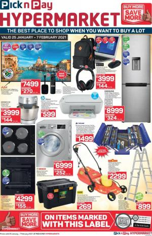 pick n pay specials hypermarket 25 january 2021