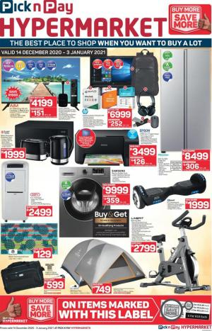 pick n pay specials hypermarkets 14 december 2020