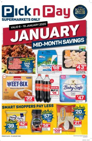 pick n pay specials mid month savings 7 january 2020