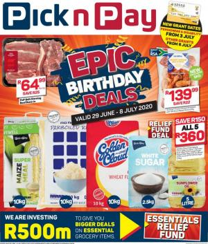 pick n pay specials more epic birthday savings 29 june 2020