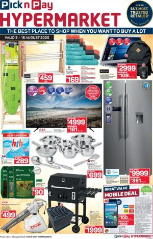 pick n pay specials more savings hypermarkets 3 august 2020