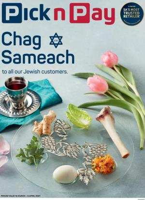 pick n pay specials passover 15 march 2021