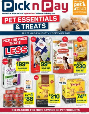 pick n pay specials pet 23 aug 12 sep 2021