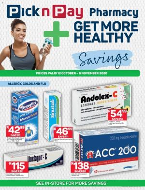 pick n pay specials pharmacy 12 october 2020
