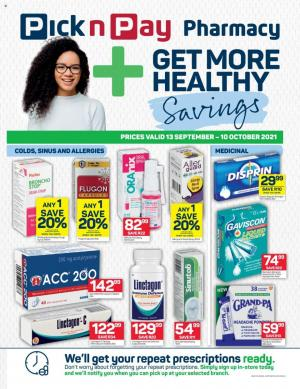 pick n pay specials pharmacy 13 sep 10 oct 2021