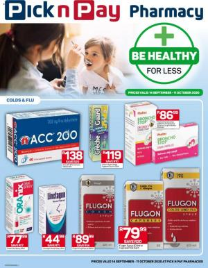 pick n pay specials pharmacy 14 september 2020
