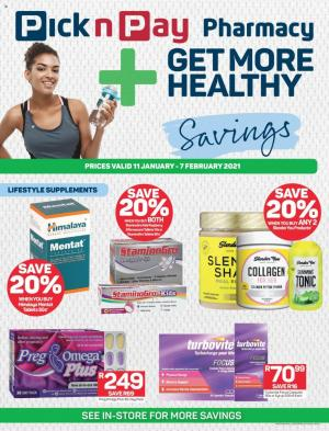 pick n pay specials pharmacy 18 january 2021