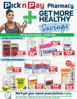 pick n pay specials pharmacy 8 march 2021