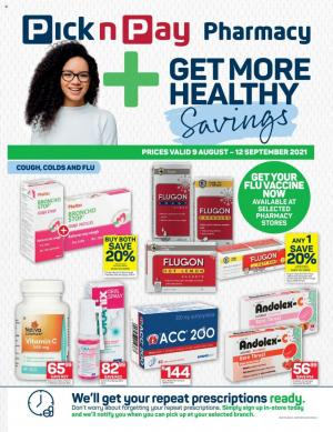 pick n pay specials pharmacy 9 aug 12 sep 2021