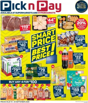 pick n pay specials smart price 14 september 2020