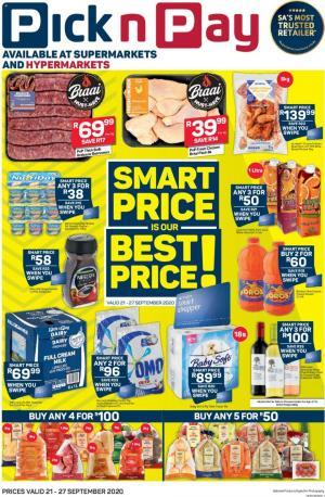 pick n pay specials smart price 21 september 2020