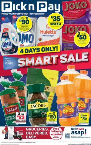 pick n pay specials smart sale 30 sep 3 oct 2021