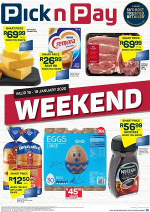 pick n pay specials this weekend 17 january 2020