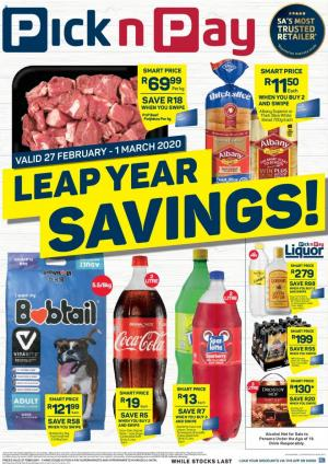 pick n pay specials this weekend 27 february 2020