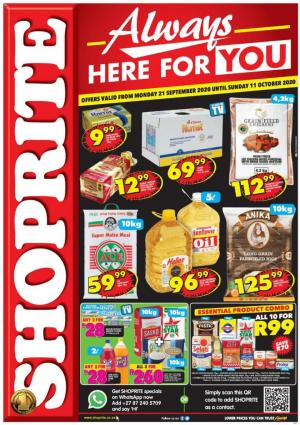 shoprite specials always here for you 21 september 2020