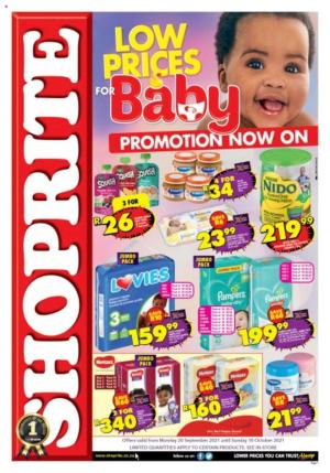 shoprite specials low prices baby promotion 20 sep 10 oct 2021