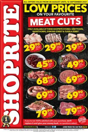 shoprite specials low prices on meat cuts 30 aug 12 sep 2021