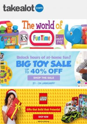 takealot specials big toy sale 24 january 2021