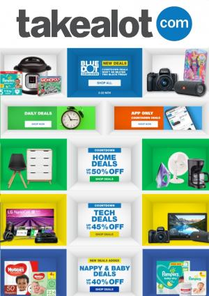 takealot specials blue dot deals 13 november 2020